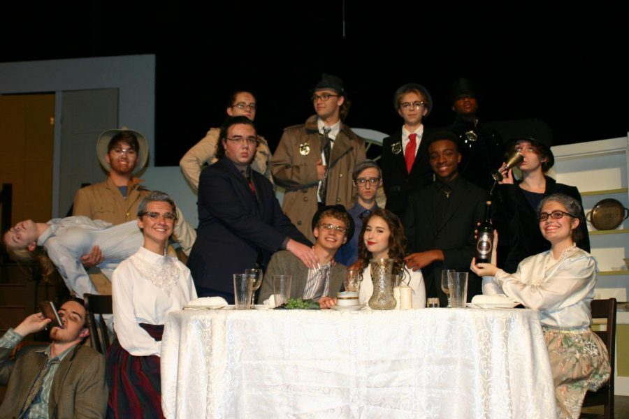 The cast of Arsenic and Old Lace