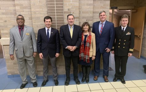 Buttigieg and Donnelly Come To Adams for Veterans Day