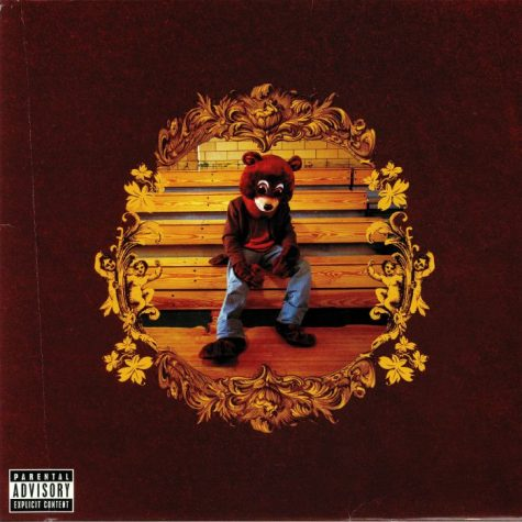 "This is the cover art for ""The College Dropout,"" Kanye West"