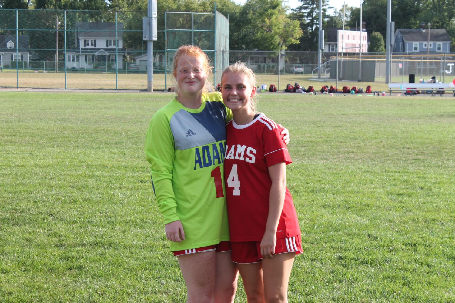 Logan Hansen & Ema Amstutz at Senior Night for Girls Soccer