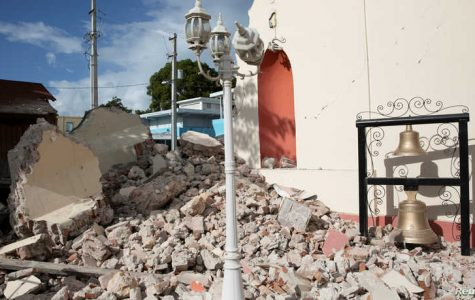 A damaged church after the earthquake in Guayanilla, January 9, 2020.