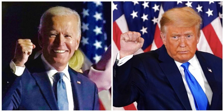 Former+Vice+President+Joe+Biden+%28Left%29+and+Presidential+Incumbent+Donald+Trump+%28Right%29