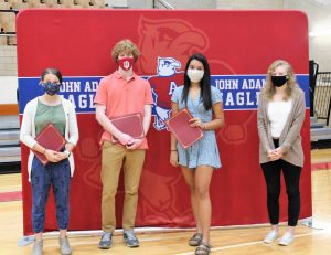 Indiana Outstanding High School Student of Spanish Award winners were recognized at Adams' first ever Spanish Honors Society induction.