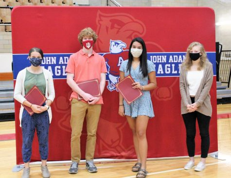 Indiana Outstanding High School Student of Spanish Award winners were recognized at Adams