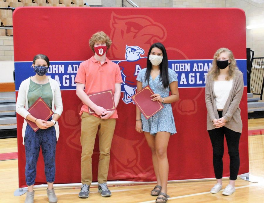 Indiana+Outstanding+High+School+Student+of+Spanish+Award+winners+were+recognized+at+Adams%27+first+ever+Spanish+Honors+Society+induction.