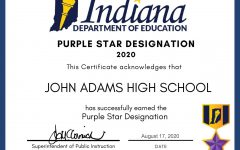 Adams Receives the Purple Star Award
